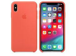 Чехол Apple Silicone Case for iPhone Xs Max Nectarine (7235)