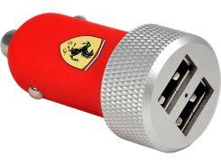 Автомобильное зарядное устройство Ferrari 2 USB Car Charger 2.1A with Apple Lightning Red (FERUCC2UPRE)