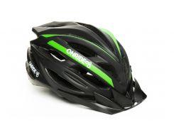 Шолом велосипедний OnRide Grip M Чорний / зелений (hub_Volc24262)
