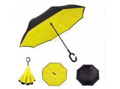 Зонт наоборот Up-brella - Зонт обратного сложения Черный/желтый (an1128)