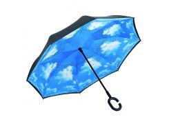 Зонт наоборот Up-brella Черно-голубой (hub_yQgZ68477)