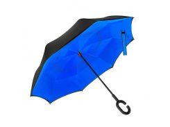 Зонт наоборот Up-brella - Зонт обратного сложения Черный/синий (an1130)