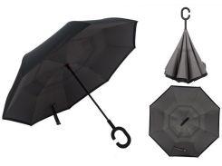 Зонт наоборот Up-brella Черный (hub_ViUL18714)
