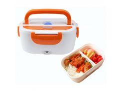 Ланч-бокс с подогревом The electric Lunch Box S19 Белый с оранжевым (hub_VTDi74790)