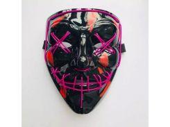 Неоновая маска Neon Mask Purge из фильма Судная ночь Фиолетовая (DX-1002)