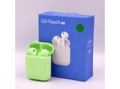 Беспроводные Bluetooth наушники HBQ i10 Touch TWS V5.0 Green  (592308) (TW18592308)