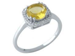 Серебряное кольцо Silver Breeze с цитрином nano 17 размер (1961056)