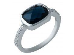 Серебряное кольцо Silver Breeze с сапфиром nano 17 размер (1925171)
