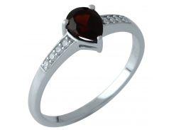 Серебряное кольцо Silver Breeze с натуральным гранатом 16.5 размер (1958575)