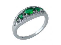 Серебряное кольцо Silver Breeze с изумрудом nano 18 размер (1987803-18)