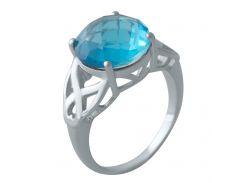 Серебряное кольцо Silver Breeze с аквамарином nano 18.5 размер (2011910)