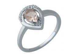 Серебряное кольцо Silver Breeze с морганитом nano и фианитами 18 размер (2003748)