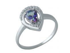 Серебряное кольцо Silver Breeze с натуральным мистик топазом 18 размер (2004226)