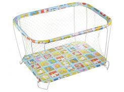 Манеж игровой KinderBox с крупной сеткой Разноцветный (kmk 2226)