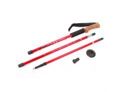 Треккинговые телескопические палки для скандинавской ходьбы Red (gr007008)