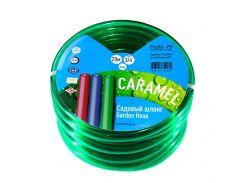 Шланг для полива Evci Plastik Софт Силикон (Caramel зеленый) садовый диаметр 3/4 дюйма, длина 30 м (CAR-3/4 30)