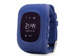 Детские часы с GPS Smart Baby Watch Q50-PLUS Темно-синий