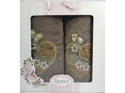 Набор 2 полотенца Durul M2 3D с вышивкой 50х90 и 70х140 см хлопок Зеленые (psg_SA-4340)