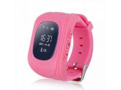 Умные детские часы-телефон с GPS трекером Smart Baby Watch Q50 OLED Розовые (DX-1026)