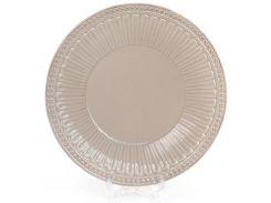 Набор 4 обеденные тарелки Bona Stone Flower d 20 см Бежевый (BD-545-301_psg)