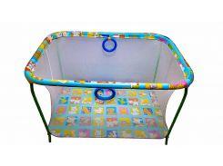 Манеж игровой KinderBox с мелкой сеткой Разноцветный (kmp 2)