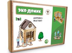 Деревянный конструктор Зевс Эко-домик на магнитах 38 деталей (ДМ38)