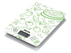 Весы кухонные Mirta SKE 305 G Бело-зеленый (F00092181)