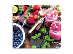 Весы кухонные MAGIO MG-699 5 кг Разноцветные из стекла (hub_wcfx63954)