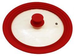 Крышка универсальная Vitrinor Spain Red 18/20/22 см стеклянная с силиконовым ободком (psg_VI-1108668)