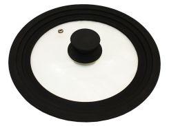 Крышка универсальная Vitrinor Spain Black 18/20/22 см стеклянная с силиконовым ободком (psg_VI-1108470)