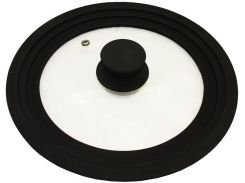 Крышка универсальная Vitrinor Spain Black 24/26/28 см стеклянная с силиконовым ободком (psg_VI-1108471)