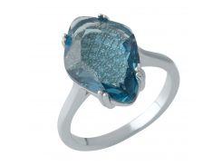 Серебряное кольцо Silver Breeze с топазом nano Лондон Блю 17 размер (1975817)