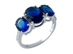 Серебряное кольцо Silver Breeze с сапфиром nano 17.5 размер (1969496)