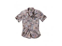 Рубашка Eddie Bauer Mens Patchwork Short Sleeve Shirt MULTI S Комбинированный (7341573MT-S)