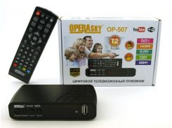 TV тюнер Т2 приемник для цифрового ТВ Operasky DVB-Т2 OP-507 USB Wi-Fi (par2408002)