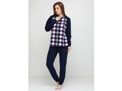 Пижама (штаны, кофта) Lee Cooper L Темно-синий, Серый, Розовый (DI66930651900)