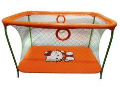 Манеж игровой KinderBox с крупной сеткой Оранжевый (km 53)
