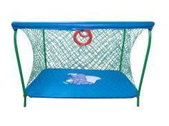 Манеж детский игровой с крупной сеткой KinderBox Темно-голубой (km 5518)
