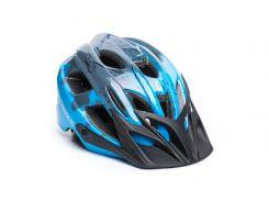 Шолом велосипеднийOnRide Rider M Сірий / блакитний (69078900003)