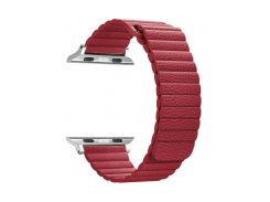 Ремешок ArmorStandart для смарт-часов Apple Watch ALL Series 38mm/40mm Leather Loop Band Red (ARM48656)