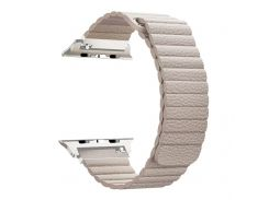 Ремешок ArmorStandart для смарт-часов Apple Watch ALL Series 42mm/44mm Leather Loop Band Beige (ARM51733)