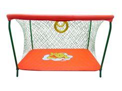Манеж игровой KinderBox с крупной сеткой Оранжевый (km 551)