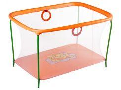 Манеж игровой KinderBox с мелкой сеткой Оранжевый (km 5511)