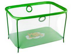 Манеж игровой KinderBox с мелкой сеткой Салатовый (km557)