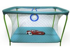 Манеж игровой KinderBox с крупной сеткой Синий (km 199)