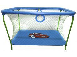 Манеж игровой KinderBox с крупной сеткой Синий (km 73)