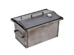 Коптильня горячего копчения 1 мм 520х310х260 мм с термометром на щепках/опилках (РК-242509)