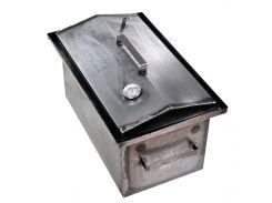 Коптильня горячего копчения 2 мм 460х300х280 мм с термометром на щепках/опилках (РК-242510)