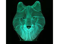 Ночник 3D Kronos Top Волк (stet_1268 (L317))