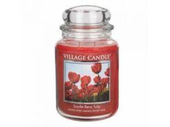 Свеча Village Candle Алые Тюльпаны 740г (время горения до 170 часов)